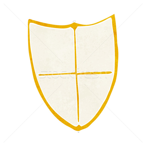 cartoon heraldic shield Stock photo © lineartestpilot