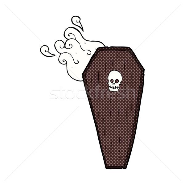 spooky comic cartoon coffin Stock photo © lineartestpilot