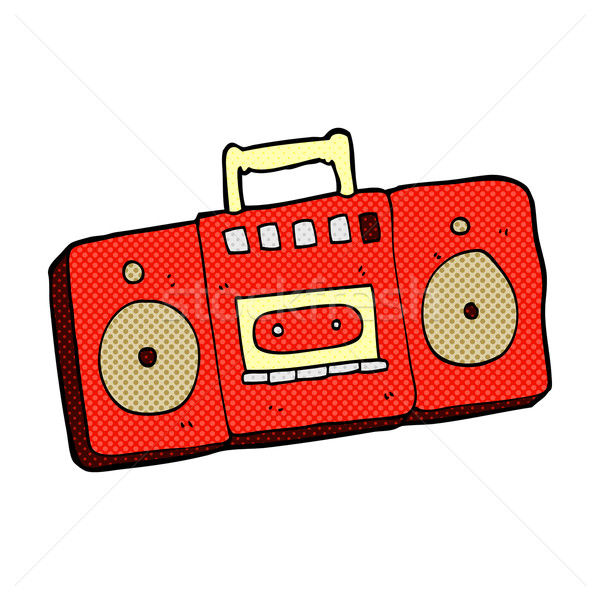 comic cartoon radio cassette player Stock photo © lineartestpilot