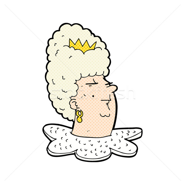 Stock photo: comic cartoon queen's head