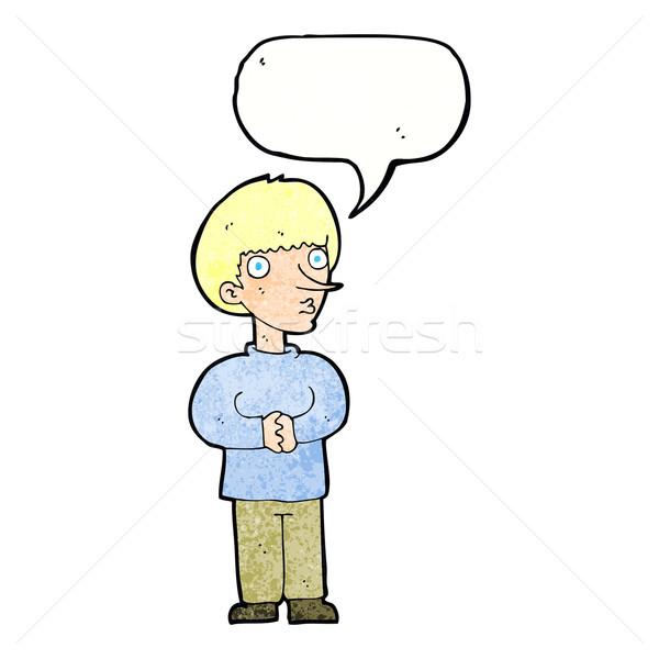 漫画 神経質な 男 吹き出し 手 クレイジー ストックフォト © lineartestpilot