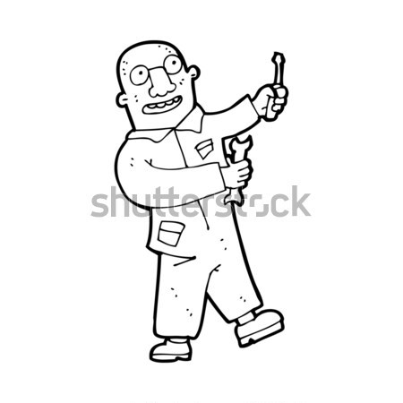 comic cartoon balding man explaining Stock photo © lineartestpilot