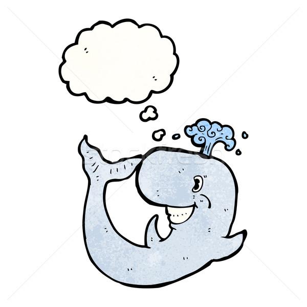 Rajz bálna gondolatbuborék textúra kéz boldog Stock fotó © lineartestpilot