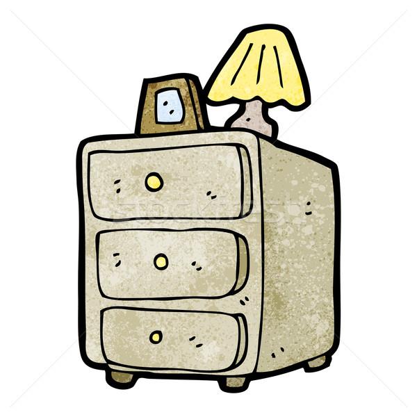 Cartoon poitrine tiroirs art rétro dessin Photo stock © lineartestpilot