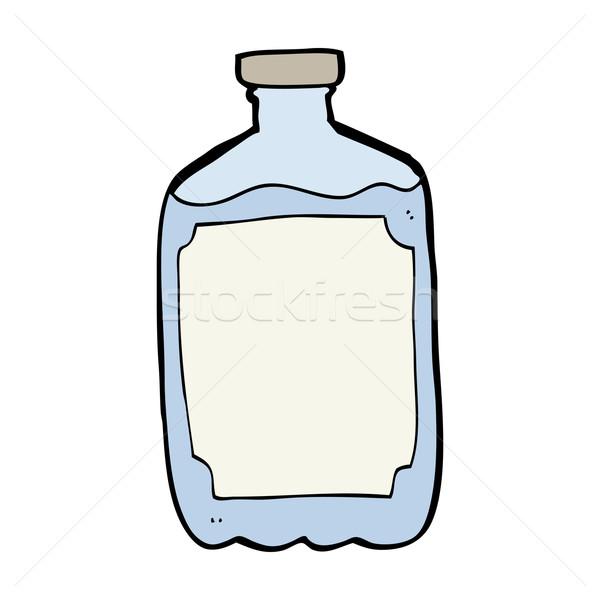 Cartoon une bouteille d'eau eau main design bouteille Photo stock © lineartestpilot