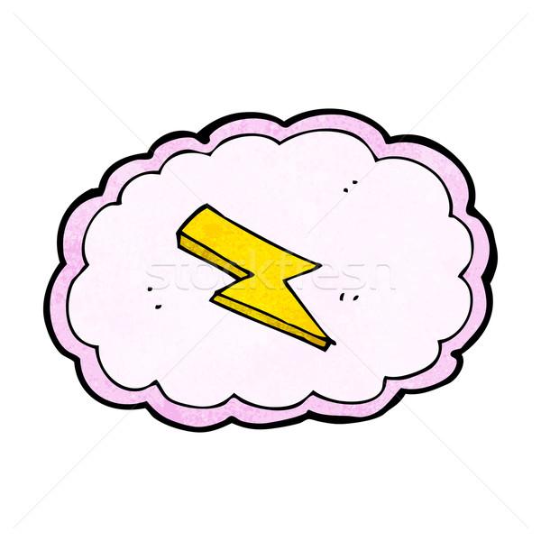 Rajz felhő villám szimbólum terv művészet Stock fotó © lineartestpilot