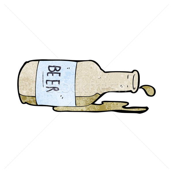 cartoon spilled beer Stock photo © lineartestpilot