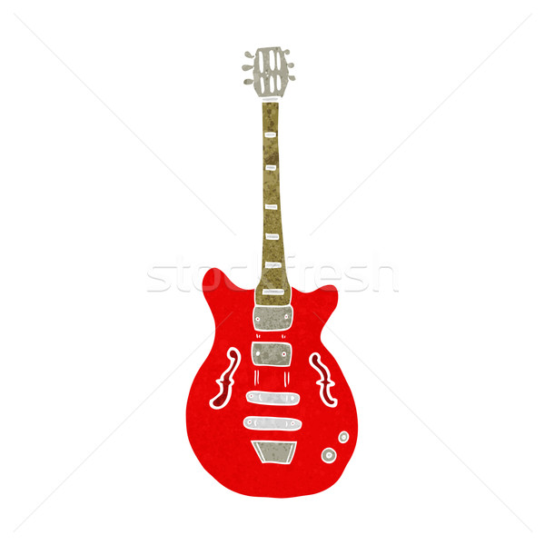 cartoon electric guitar Stock photo © lineartestpilot