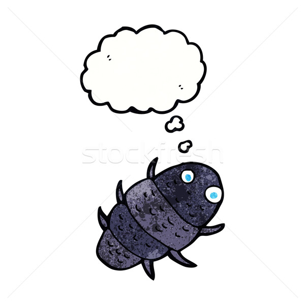 Cartoon bug bulle de pensée main design art Photo stock © lineartestpilot