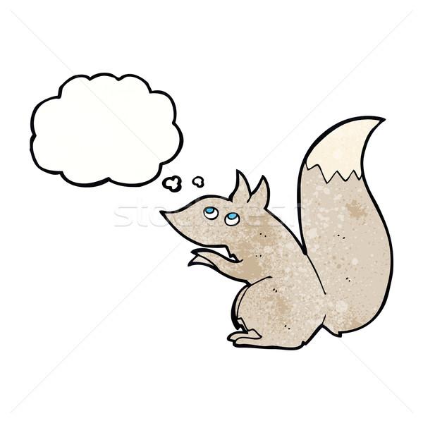 Rajz mókus gondolatbuborék kéz terv őrült Stock fotó © lineartestpilot