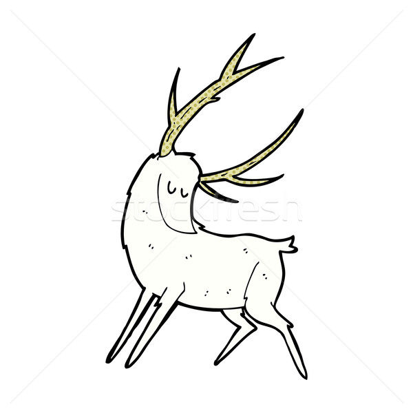 comic cartoon white stag Stock photo © lineartestpilot