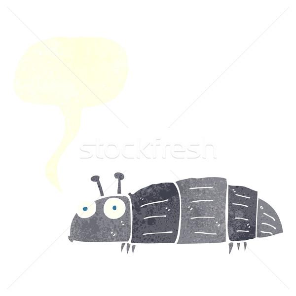 Rajz rovar szövegbuborék kéz terv művészet Stock fotó © lineartestpilot