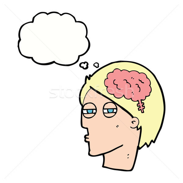 漫画 男 思考 慎重に 思考バブル 手 ストックフォト © lineartestpilot