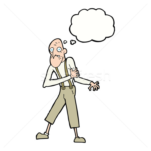 cartoon old man having heart attack with thought bubble Stock photo © lineartestpilot