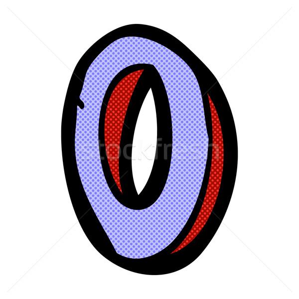 Képregény rajz o betű retro képregény stílus Stock fotó © lineartestpilot