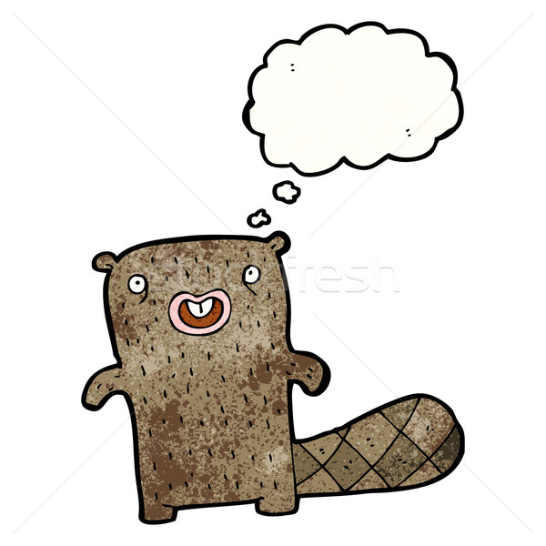 cartoon beaver Stock photo © lineartestpilot