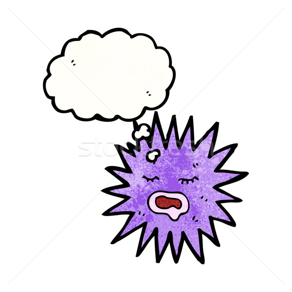 Stock photo: sea urchin cartoon