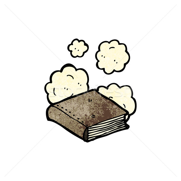 dusty old book cartoon Stock photo © lineartestpilot