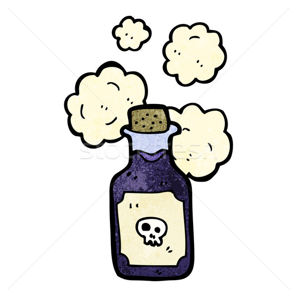 cartoon vial of poison Stock photo © lineartestpilot