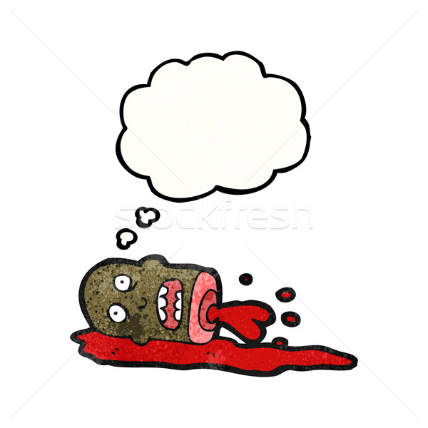 cartoon gross severed head Stock photo © lineartestpilot