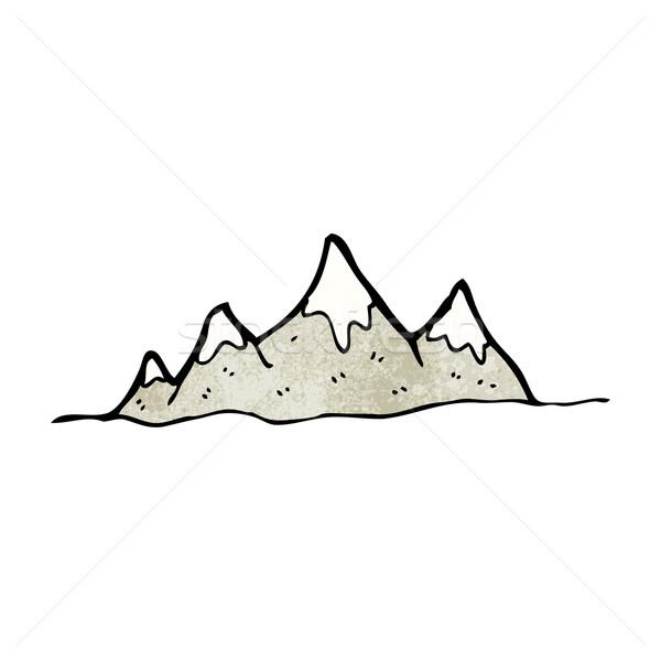 Rajz hegy terjedelem művészet retro rajz Stock fotó © lineartestpilot
