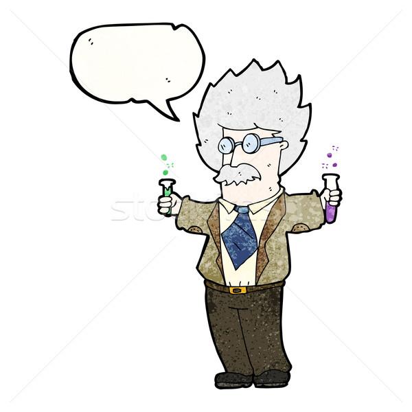 Cartoon genie wetenschapper retro tekening cute Stockfoto © lineartestpilot