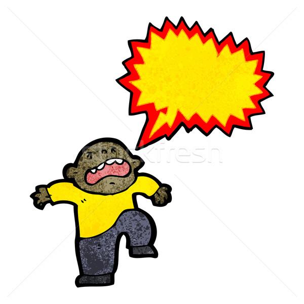 Cartoon berrinche retro dibujo cute ilustración Foto stock © lineartestpilot