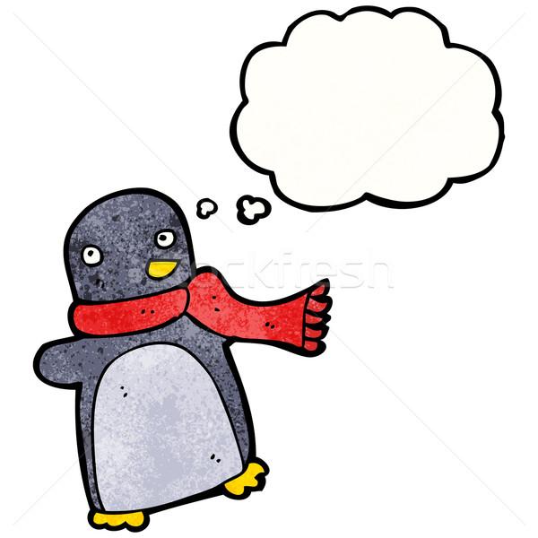 funny cartoon penguin Stock photo © lineartestpilot