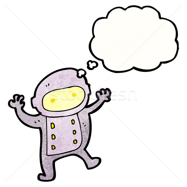 cartoon spaceman Stock photo © lineartestpilot