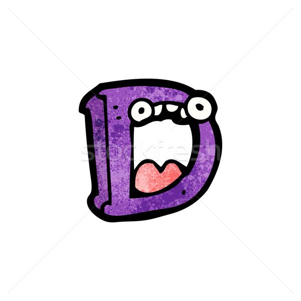 Rajz d betű művészet felirat retro rajz Stock fotó © lineartestpilot