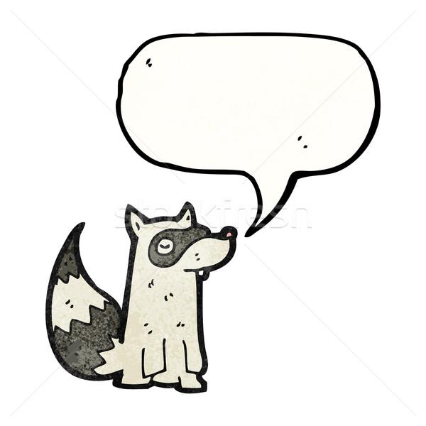 Cartoon wasbeer retro textuur geïsoleerd witte Stockfoto © lineartestpilot