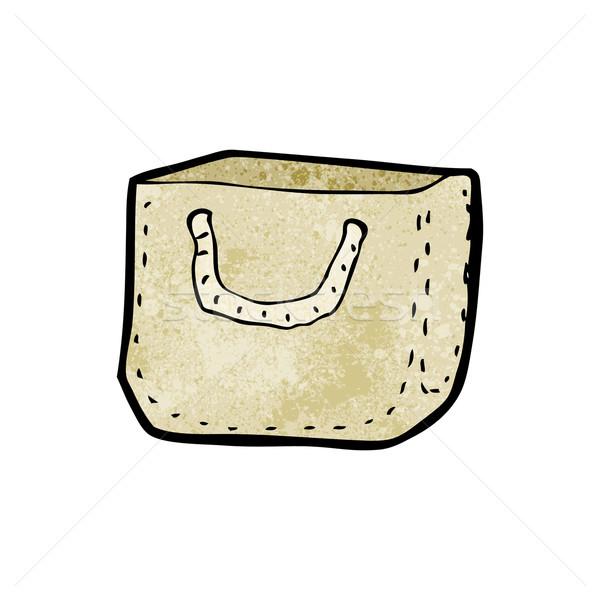 cartoon reusable bag Stock photo © lineartestpilot