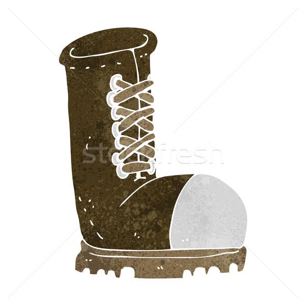 cartoon old work boot Stock photo © lineartestpilot