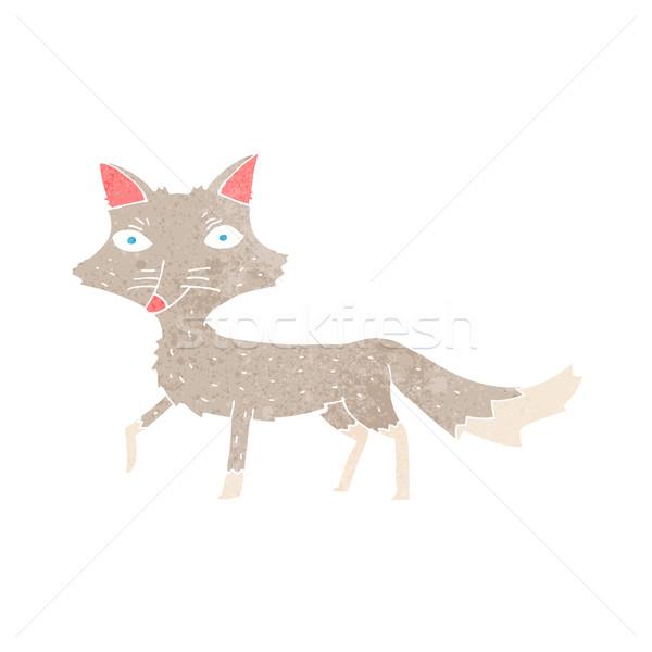Cartoon мало волка дизайна искусства животные Сток-фото © lineartestpilot