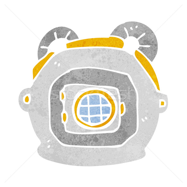 cartoon old deep sea diver helmet Stock photo © lineartestpilot