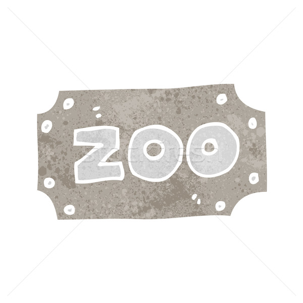 cartoon zoo sign Stock photo © lineartestpilot