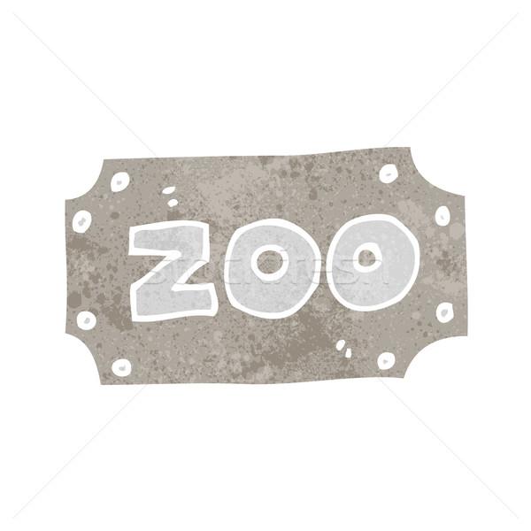 Karikatür hayvanat bahçesi imzalamak el dizayn çılgın Stok fotoğraf © lineartestpilot