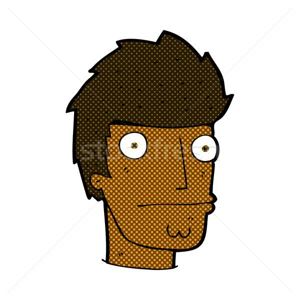 Dessinées cartoon nerveux homme rétro Photo stock © lineartestpilot