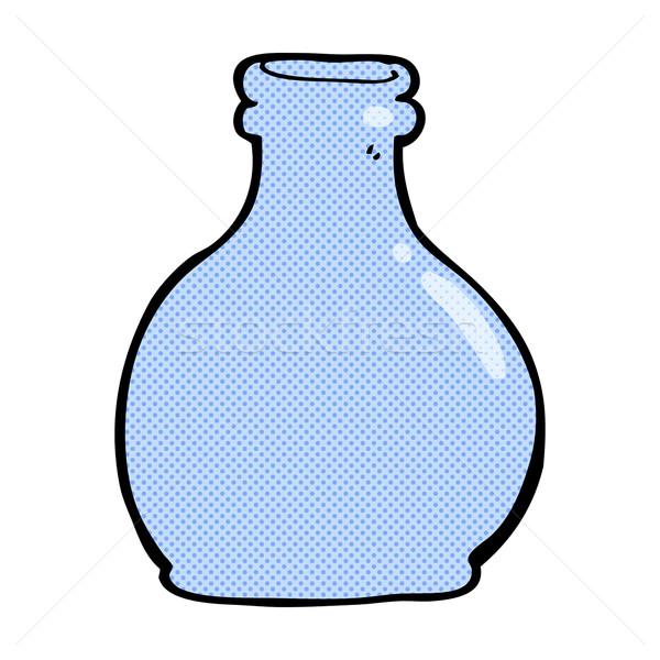 Fumetto cartoon vecchio vetro vaso retro Foto d'archivio © lineartestpilot