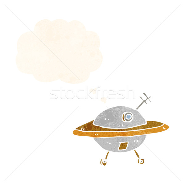 漫画 飛行 ソーサー 思考バブル 手 デザイン ストックフォト © lineartestpilot