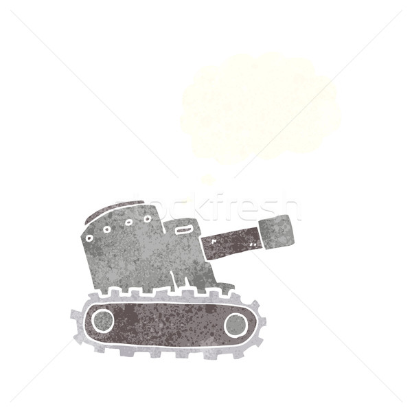 cartoon army tank with thought bubble Stock photo © lineartestpilot