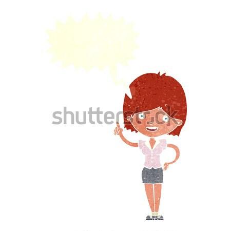Cartoon orgoglioso donna fumetto mano felice Foto d'archivio © lineartestpilot