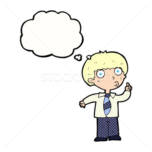 漫画 男子生徒 質問 思考バブル 手 男 ストックフォト © lineartestpilot