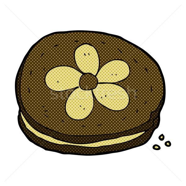 комического Cartoon печенье ретро стиль Сток-фото © lineartestpilot