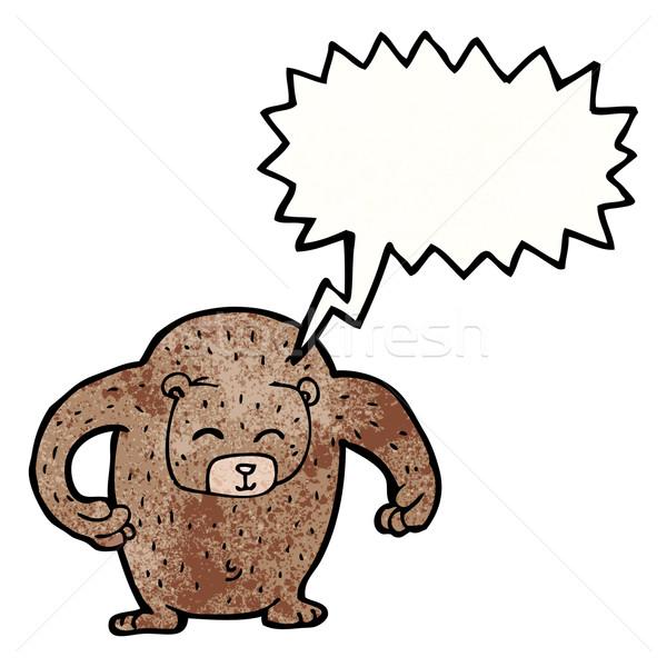 ビッグ 騒々しい 優しい クマ 漫画 テクスチャ ストックフォト © lineartestpilot