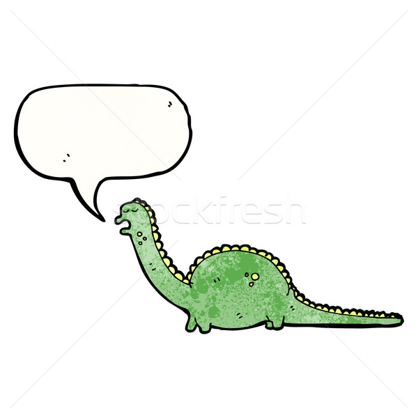 friendly cartoon dinosaur Stock photo © lineartestpilot