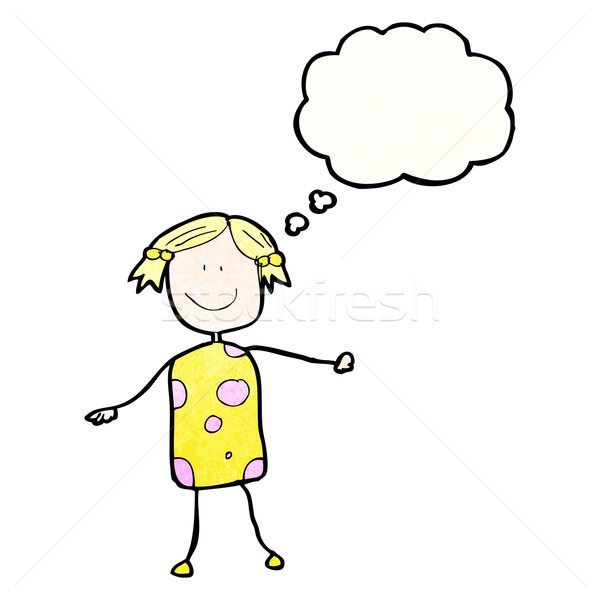 child's drawing of a happy woman Stock photo © lineartestpilot