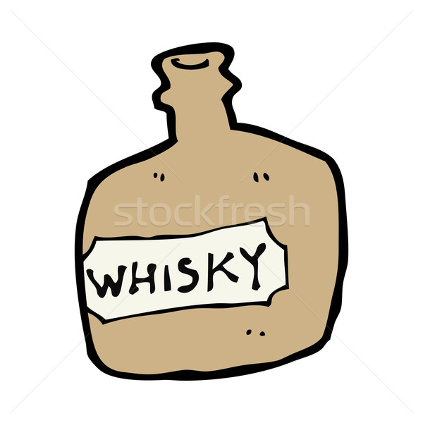 Cartoon whisky jar hand ontwerp gek Stockfoto © lineartestpilot