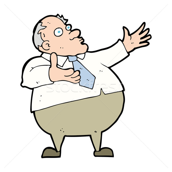 cartoon exasperated middle aged man Stock photo © lineartestpilot