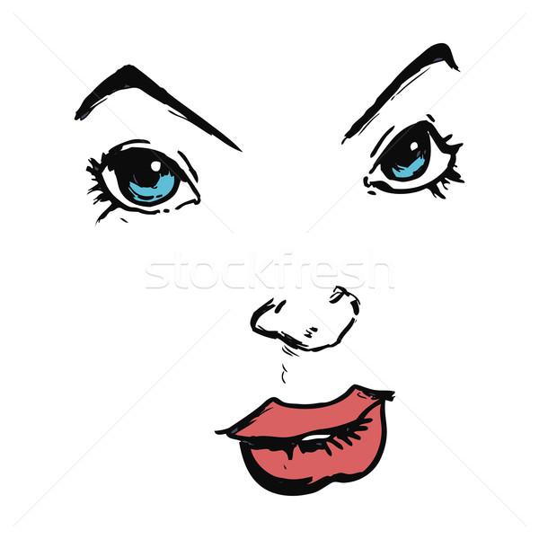 cartoon comic book face Stock photo © lineartestpilot